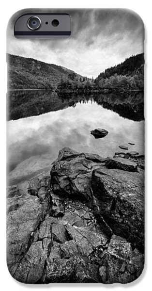 Drama iPhone Cases - Loch Beinn a Mheadhoin iPhone Case by Dave Bowman