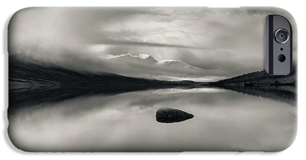 Winter Storm iPhone Cases - Loch Etive iPhone Case by Dave Bowman