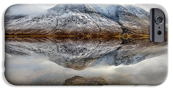 Dave iPhone Cases - Loch Etive Reflection iPhone Case by Dave Bowman