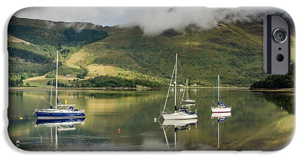 Sailboats iPhone Cases - Loch Leven Sailboats iPhone Case by David Head