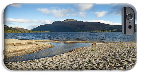 Beautiful Scenery iPhone Cases - Loch Lomond pano iPhone Case by Jane Rix
