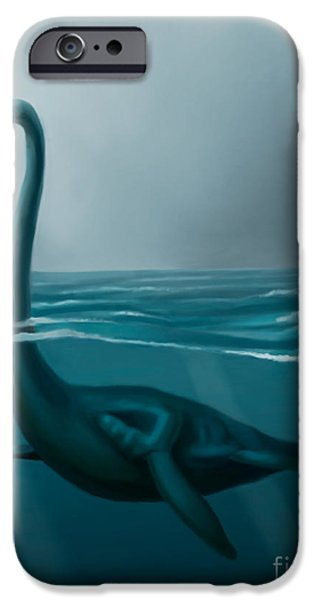 Mythical Creatures iPhone Cases - Lochness Monster iPhone Case by Spencer Sutton