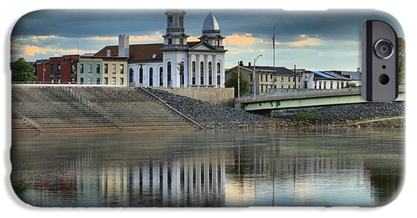 House iPhone Cases - Lock Haven Clock Tower iPhone Case by Adam Jewell