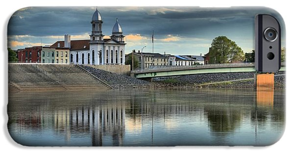 Historic Site iPhone Cases - Lock Haven Clock Tower Reflections iPhone Case by Adam Jewell