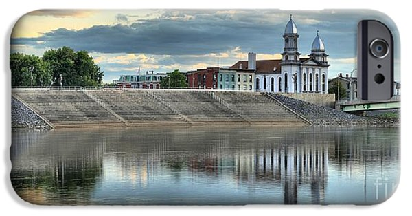 Historic Site iPhone Cases - Lock Haven In The Susquehanna iPhone Case by Adam Jewell