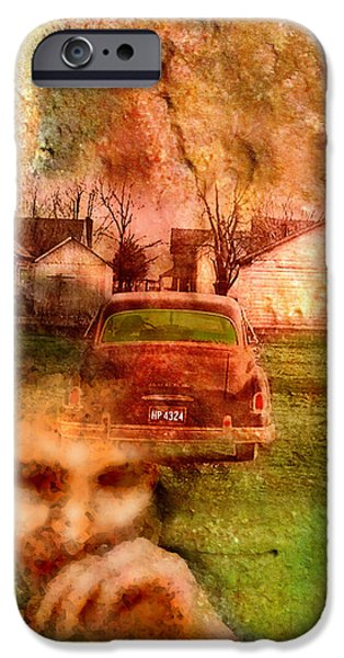 1950s Portraits iPhone Cases - Locked Cars and Unknown Destinations iPhone Case by James Huntley