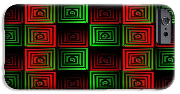 Patterns iPhone Cases - Locked Up iPhone Case by Anastasiya Malakhova