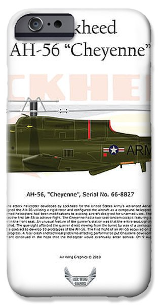 Lockheed AH-56 Cheyenne iPhone Case by Arthur Eggers
