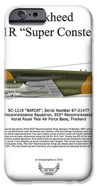 Lockheed EC-121R 553RS Korat RTAFB iPhone Case by Arthur Eggers