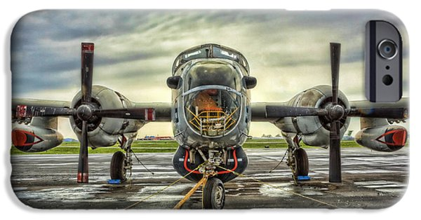Modern World Photography iPhone Cases - Lockheed P-2 Neptune Gunship iPhone Case by Lee Dos Santos