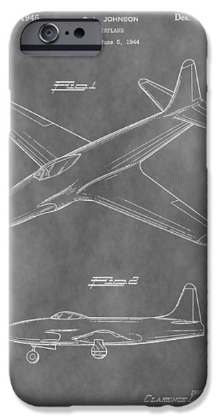 Jet Star Mixed Media iPhone Cases - Lockheed P-80 Shooting Star iPhone Case by Dan Sproul