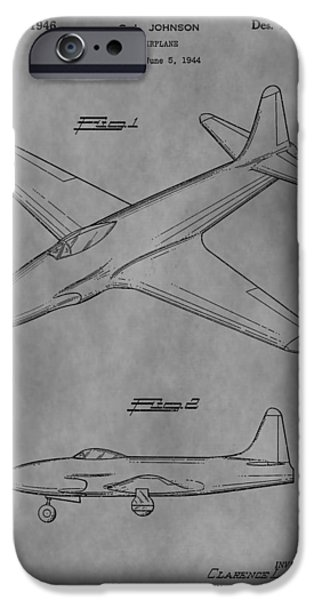 Jet Star Mixed Media iPhone Cases - Lockheed Patent iPhone Case by Dan Sproul