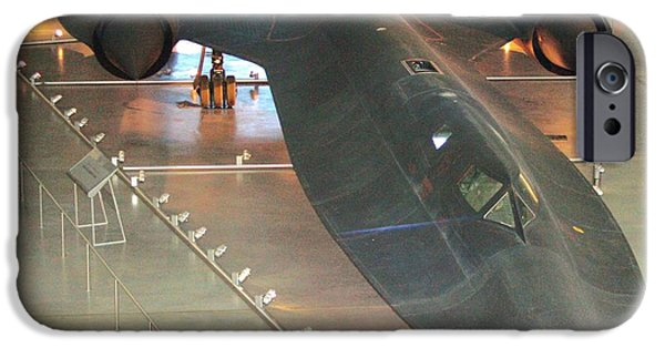 Jet-propelled iPhone Cases - Lockheed SR-71 Blackbird iPhone Case by Patti Whitten