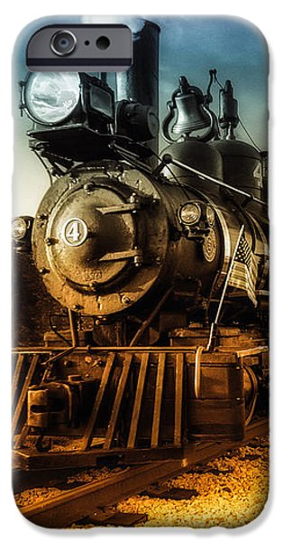 Maine iPhone Cases - Locomotive Number 4 iPhone Case by Bob Orsillo