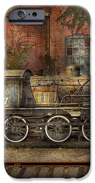 Locomotive - Our old family business iPhone Case by Mike Savad