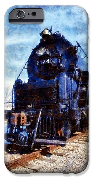 Commerce Digital iPhone Cases - Locomotive Train 2124 iPhone Case by Janine Riley