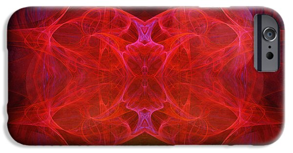 Abstract Digital Photographs iPhone Cases - Lodestar iPhone Case by Edward Fielding