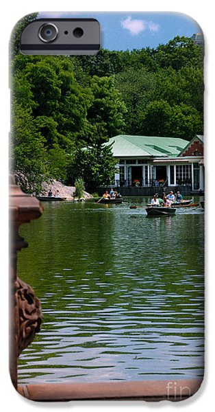 Loeb Boathouse Central Park iPhone Case by Amy Cicconi