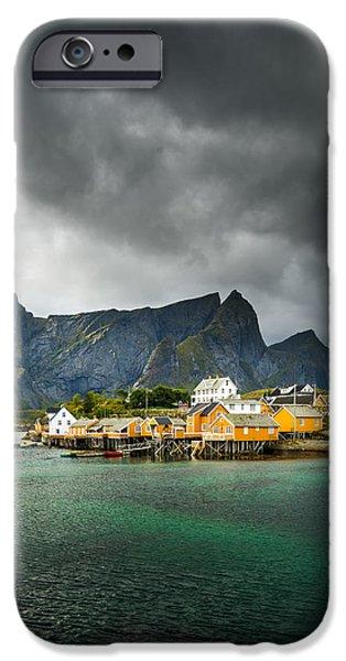 Norway iPhone Cases - Lofoten iPhone Case by Maciej Markiewicz