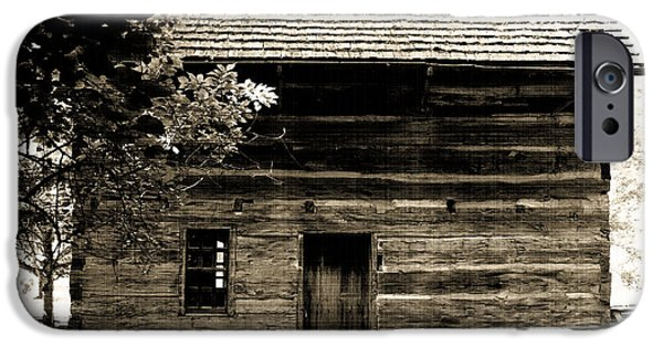 Billie Creek iPhone Cases - Log Cabin Home iPhone Case by Brenda Donko