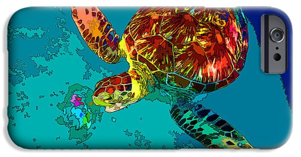 Advocacy iPhone Cases - Loggerhead Lunch iPhone Case by Keri West
