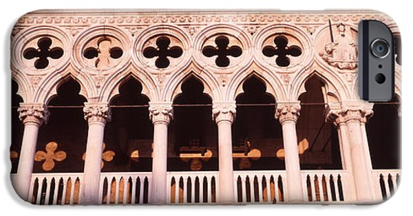 Balcony iPhone Cases - Loggia, Doges Palace, Venice, Italy iPhone Case by Panoramic Images