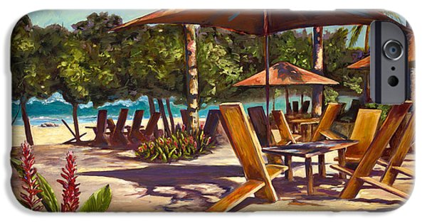 Tropical Paintings iPhone Cases - Lolas in Costa Rica iPhone Case by Christie Michael
