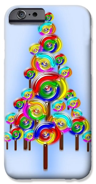 Pines iPhone Cases - Lollipop Tree iPhone Case by Anastasiya Malakhova