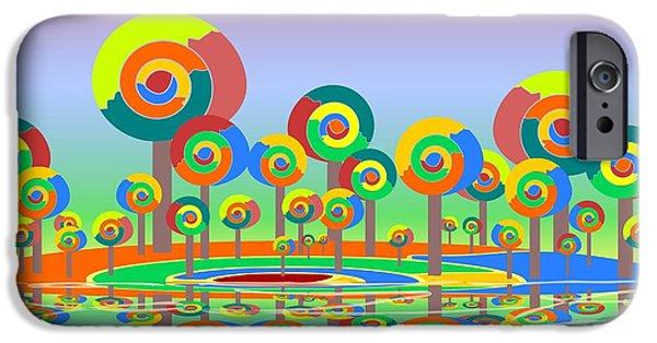 Hallucination iPhone Cases - Lollypop Island iPhone Case by Anastasiya Malakhova