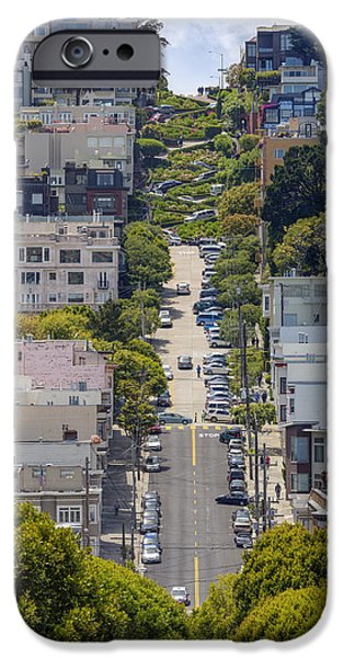 San Francisco Street iPhone Cases - Lombard Street iPhone Case by Adam Romanowicz