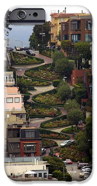 San Francisco Street iPhone Cases - Lombard Street iPhone Case by David Salter