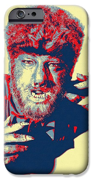 Drama Mixed Media iPhone Cases - Lon Chaney Jr in The Wolf Man iPhone Case by Art Cinema Gallery