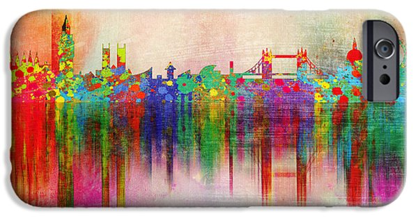 Animation iPhone Cases - London 5 iPhone Case by Mark Ashkenazi