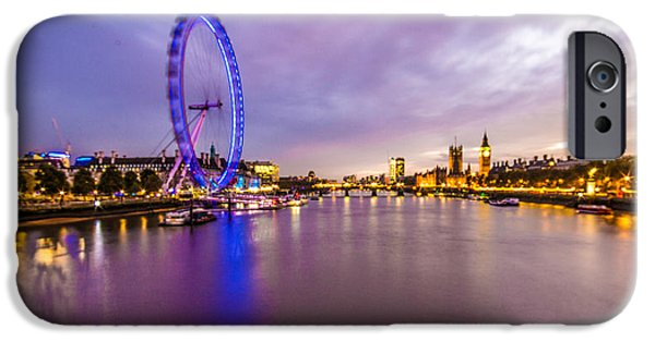 Westminster Palace iPhone Cases - London at Night iPhone Case by Dawn OConnor