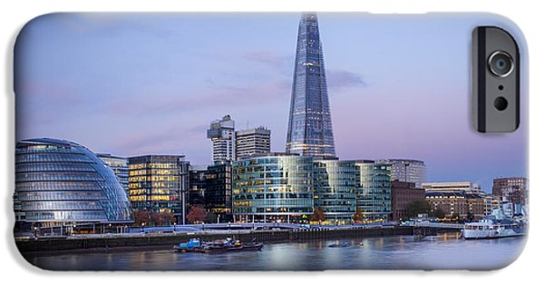 Office Block iPhone Cases - London - City Hall iPhone Case by Brian Jannsen