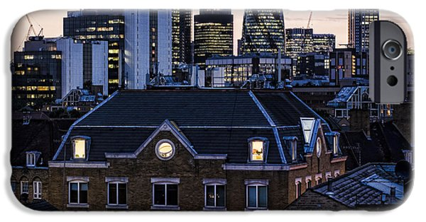 City Scape Photographs iPhone Cases - London City iPhone Case by Heather Applegate