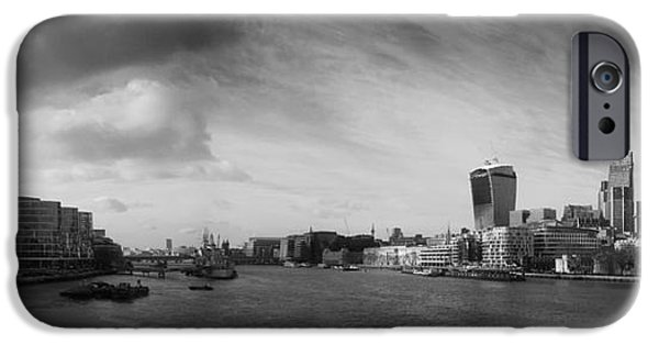 Sailing iPhone Cases - London City Panorama iPhone Case by Pixel Chimp