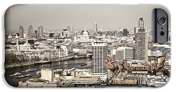 Building iPhone Cases - London cityscape iPhone Case by Elena Elisseeva