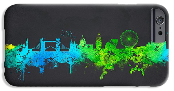 Buildings Mixed Media iPhone Cases - London England iPhone Case by Aged Pixel