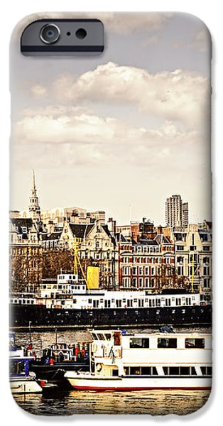 London from Thames river iPhone Case by Elena Elisseeva