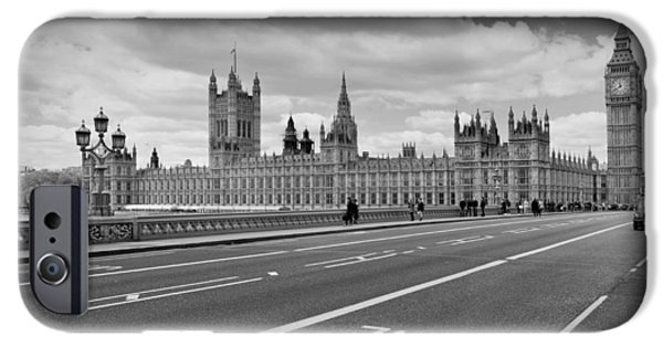 Facade Digital iPhone Cases - London - Houses of Parliament  iPhone Case by Melanie Viola