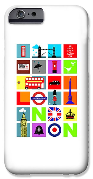 Bus Photographs iPhone Cases - London iPhone Case by Mark Rogan