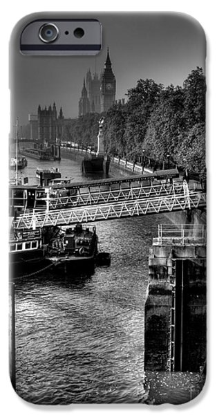 Fog Mist iPhone Cases - London Morning Mist iPhone Case by Andrew Pounder