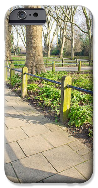 Board iPhone Cases - London park iPhone Case by Tom Gowanlock