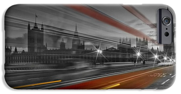 Facade Digital iPhone Cases - LONDON Red Bus iPhone Case by Melanie Viola