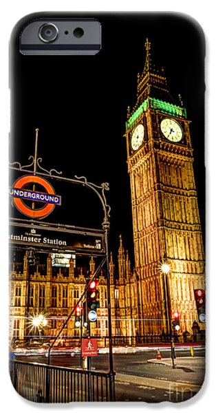 Houses Of Parliament iPhone Cases - London Scene 2 iPhone Case by Jasna Buncic