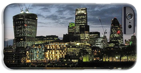 Skyline Pyrography iPhone Cases - London Skyline iPhone Case by Gary Smith