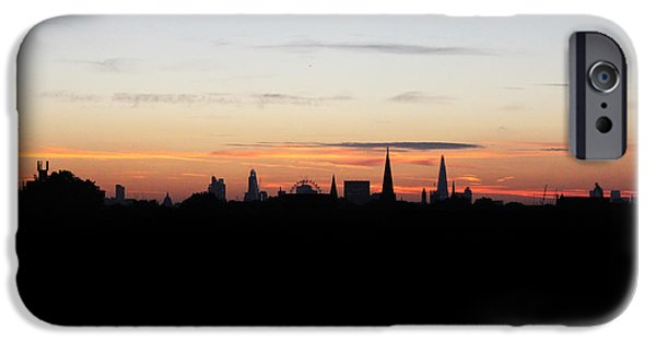 Rare Moments iPhone Cases - London Skyline Sunrise iPhone Case by Graeme Voigt