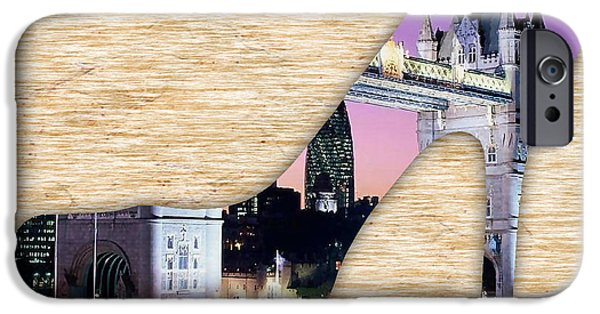 Shoe iPhone Cases - London Tower Bridge iPhone Case by Marvin Blaine