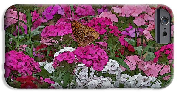 Arkansas Mixed Media iPhone Cases - Lone Butterfly iPhone Case by Julie  Grace